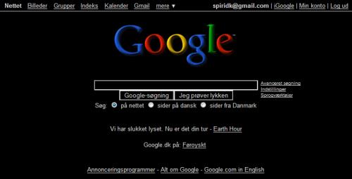 Google i sort
