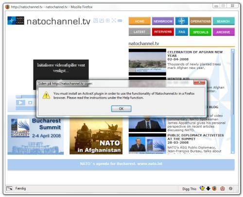 Screenshot af NATOChannel.tv