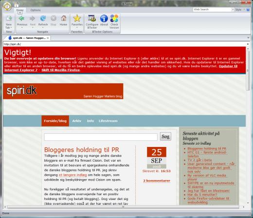 spiri.dk IE6-advarsel