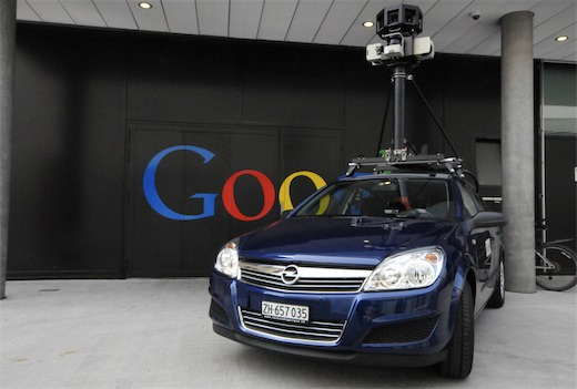 En af de biler, som Google bruger til at optage Street View-billeder i Danmark