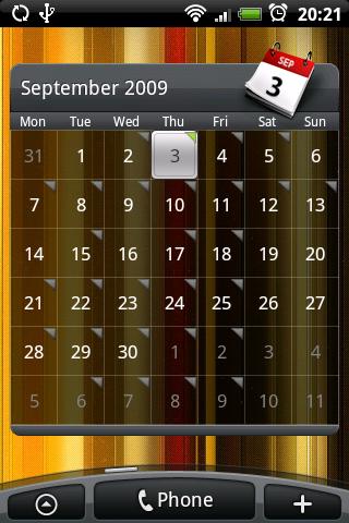 HTC Sense Kalender-widget