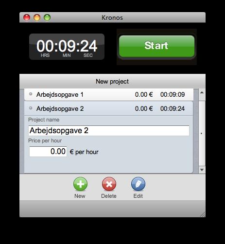 Kronos er et ganske simpelt program som hjælper med at holde styr på arbejdstiden