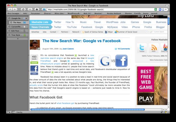 Faneblade i Firefox arrangeret vertikalt frem for horisontalt