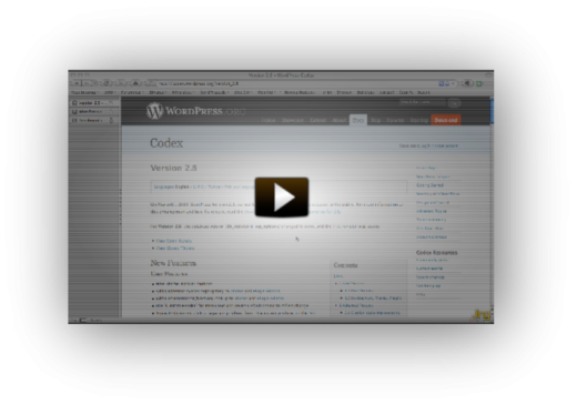 Screencast om WordPress 2.8